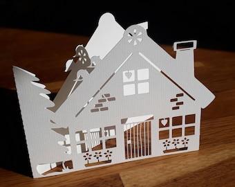 New House Papercut Card