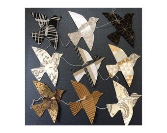 Paper Bird Garland - SILVER, GOLD, BLACK - Wedding Garland - Party Garland - Bird Garland - Wedding Decor - Home Decor - New Year's Party