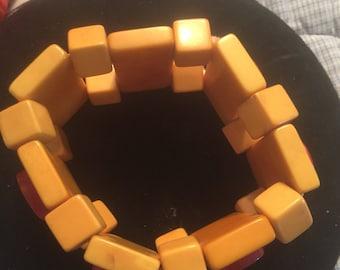 Artisan bakelite dominoe bracelet