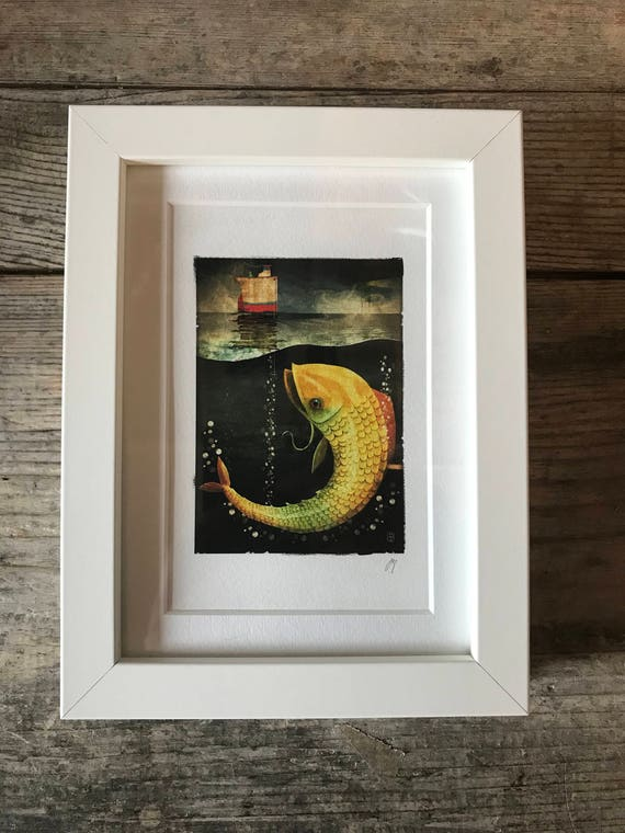 SALE! Big Fish - Mini Framed Print
