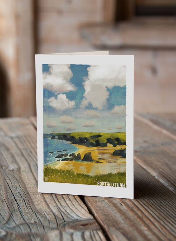 Cornish Coasts - Porthcothan Greetings Card
