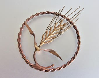 Vintage Copper Brass Wheat Stalk Crafting | Crafting Element | Repurposing Element