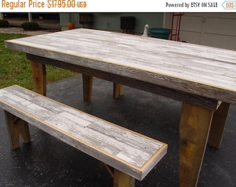 SANTA SALE FREE Shipping Harvest Table, Dining Table, Barn Wood Furniture ,  Farm Table