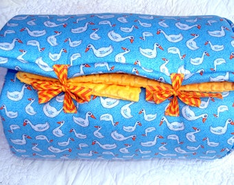 QUACK by Janiebee Quilted Nap Mats, Unique, THICK, soft, safe Toddler Nap Mats made in USA