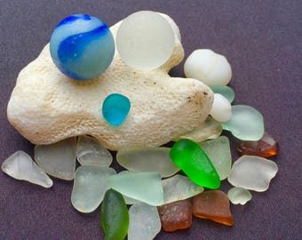 A-Sea Glass!  Beach Glass! HAWAII Beaches 2 MARBLES! SALE! Bulk Sea Glass! Sea glass Marbles! Beach Glass Marbles! Seaglass
