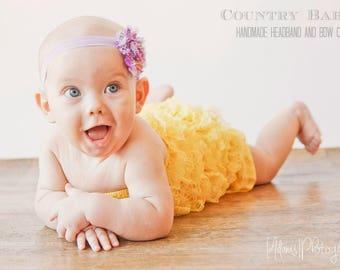 Paisley Baby Headband, Headband, Baby Girl Headband, Shabby Chic Flower Headband