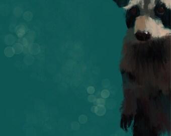 My raccoon - canvas print