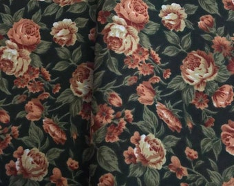 Floral printed rayon by the yard