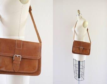 1970's leather satchel