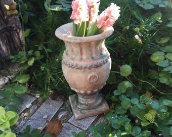 SALE Miniature Garden Urn, Aged Apian Planter, #08, Dollhouse Miniature, 1:12 Scale, Miniature Garden Decor, Topper, Crafts