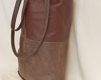Super large Leather shopping bag