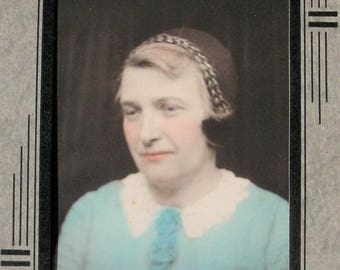 Photograph of Pastel Lady in Folder