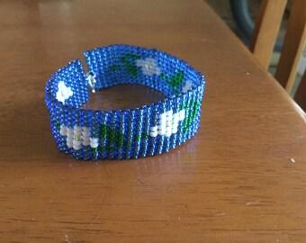 Floral Beaded Bracelet