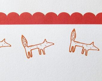 Naive Fox Olive Wood Stamp