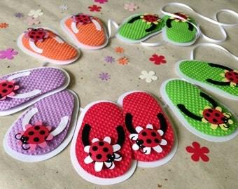 Lady Bug flip flop garland/bunting child's birthday party