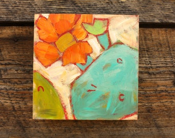 """Prickly Pear Bloom 6 x 6"""""""