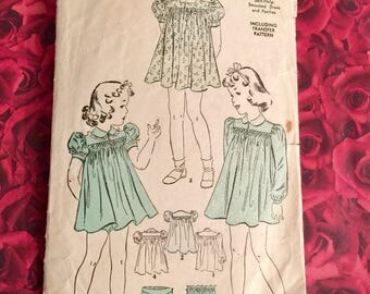 30's Vintage Advance Sewing Pattern