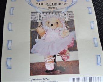 Tu-Tu Tootsie Ballerina Outfit, Ballerina Outfit for Teddy, Ballerina Outfit for Doll, Tender Heart Ballet Outfit for Teddy, Doll Outfit