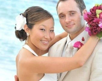WEDDING Hair Clip, Gardenia Flower Fascinator, Prom Hair Clip, Bridal Fascinator, Gardenia Flowers, Ivory Hair Clip, White Hair Clip, Bridal