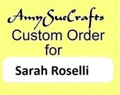 Custom Order -- Sarah Roselli -- Personalized Baptism Keepsake, Hand Stamped Date, Penny Keychain with Cross, Penny Key Chain
