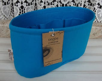 Ready to ship / Purse ORGANIZER Insert Shaper / Turquoise / Size SMALL / 10.5 x 3.5 x 6H oval / STURDY & Durable / Choice of bottom type