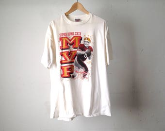 vintage STEVE YOUNG mvp San Francisco 49ERS oversize huge white XL t-shirt