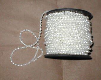 White Pearl  Bead Roping Trim