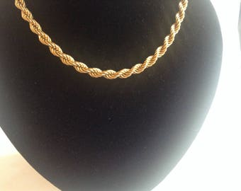 Monet Rope Chain, Excuisite Gold Coloured Metal, 1980s/90s