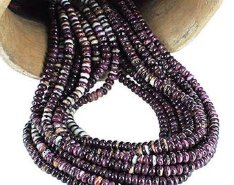 Summer Sale : ) Purple Spiny Oyster Beads Rondelles 6mm