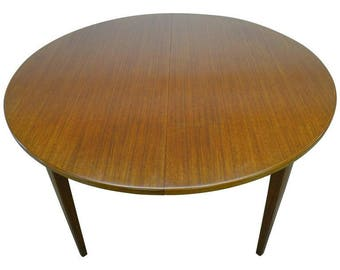 Dining Table of Teak by Omann Jun with Three Leaves