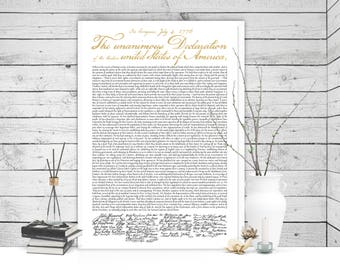 Large Declaration of Independence Poster Print 24x36, 4th of July, 4th of July Decor, Fourth of July, Fourth of July Decorations, July 4th,