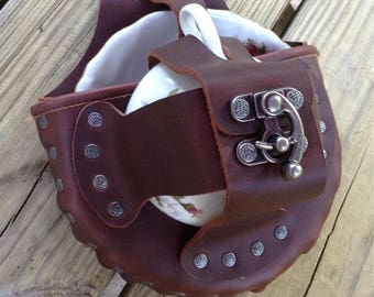 Tea Dueling Leather Steampunk Tea Cup Holster Set