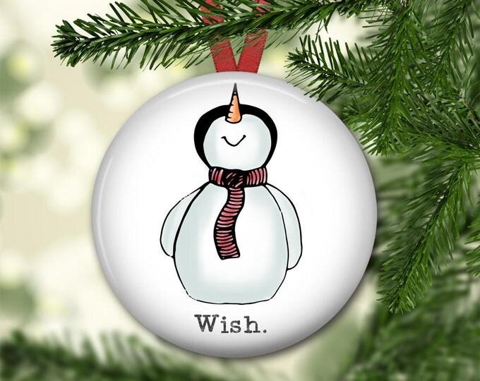 snowman christmas ornament for tree - farmhouse Christmas ornament - snowman decor - modern farmhouse decor - ORN-HOL-53