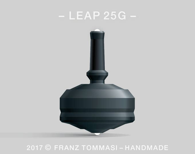 LEAP 25G Black Spin Top with rubber grip and dual ceramic tip