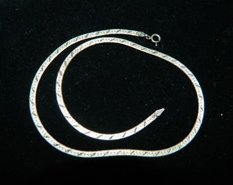 """16"""" Sterling Silver Chain with Gold Overlay - Made in Italy"""