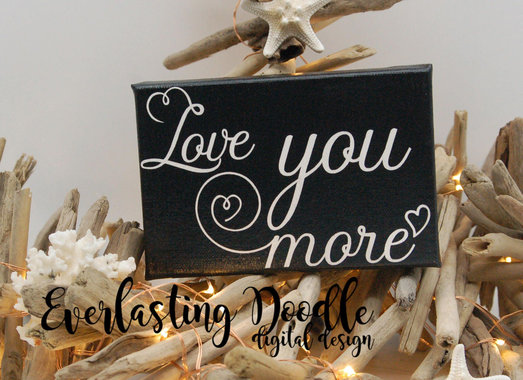 Love Quote Canvas Love You More Hand Painted Canvas Wedding Giftanniversary Gift