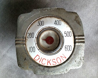 Antique Vintage 1930s Porcelain Stove Dickson Oven Temperature Thermometer