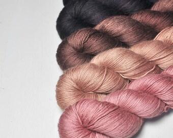 Shadowy ballroom - Gradient of Silk/Cashmere Lace Yarn