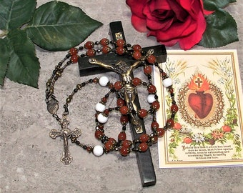 Traditional 39 Bead Catholic Chaplet of The Sacred Heart of Jesus - from the Special Edition Handcrafted Art Chaplets & Prayer Beads Series