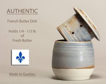Butter Dish, Soft Butter Keeper, Beurrier Breton, French Butter Keeper, French Butter dish, butter crock by Perry Pottery