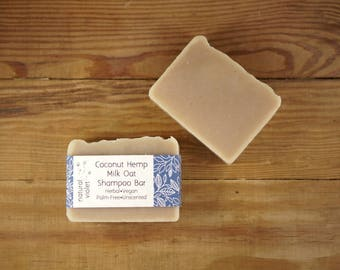 Coconut Milk Shampoo Bar - Solid Shampoo Bar - All Natural Shampoo - Palm Free and Vegan Shampoo - Zero Waste Shampoo Soap