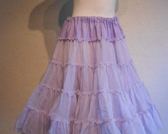 Clearance 60% Off A Girl Goes Swish - 1950s Lavender Two Layer Crinoline Petticoat - 6/8