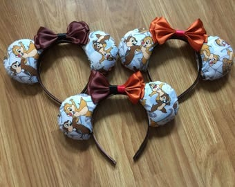 Chip and Dale inspired Mickey/Minnie Disney ears