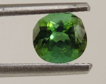 1.3 cts green tourmaline faceted oval cut Brazil