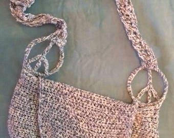 Knit Peace Shoulder Purse