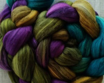 "Hand Dyed Merino/Tencel 4 Oz. ""Steel Pan Jam"""