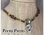 Om/Mookaite Necklace