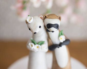 Ferret Wedding Cake Topper by Bonjour Poupette