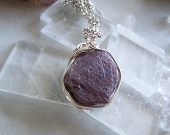 Natural Ruby Gemstone Record Keeper Pendant Necklace