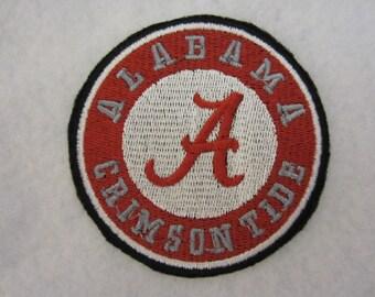 Embroidered Alabama Crimson Tide Iron On Patch, Alabama Crimson Tide, Crimson Tide, Iron On Patch, Iron On Applique, Alabama Football